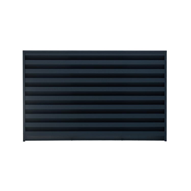 Ogrodzenie Żaluzjowe Horyzontalne w Kolorze RAL-7024
