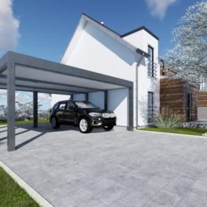 wiata garażowa carport podwójna