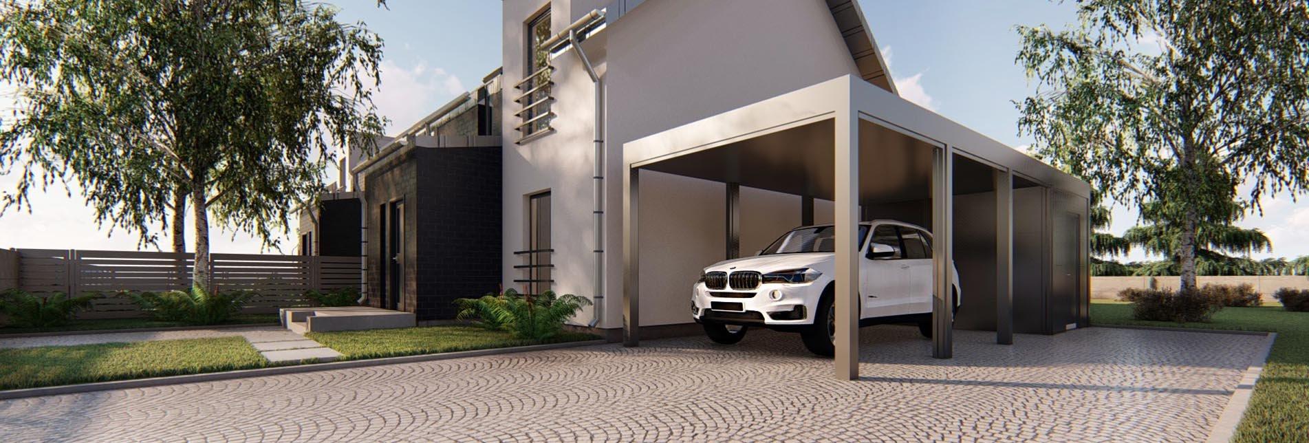 Carport - wiata garażowa pojedyńcza