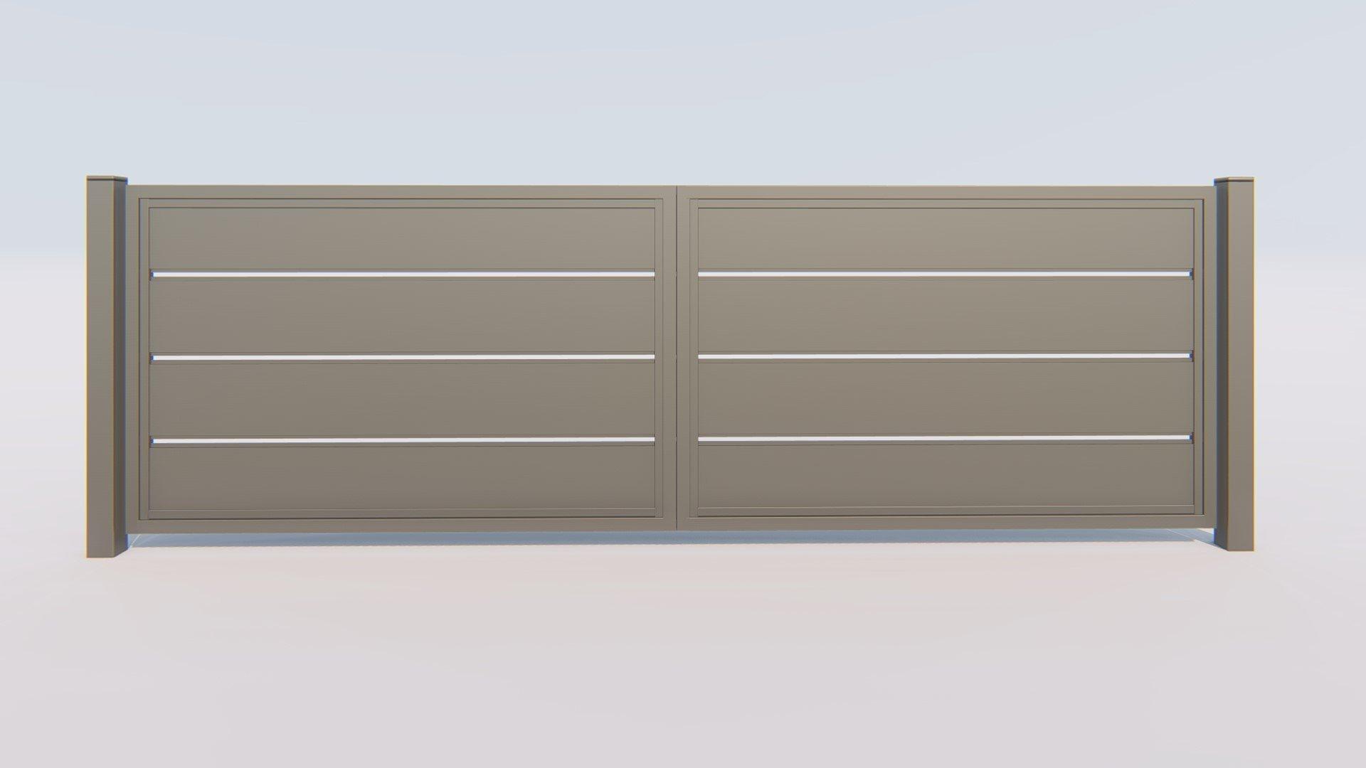 brama otwierana ogrodzeniowa nowoczesne z szerokimi lamelami modern tanio