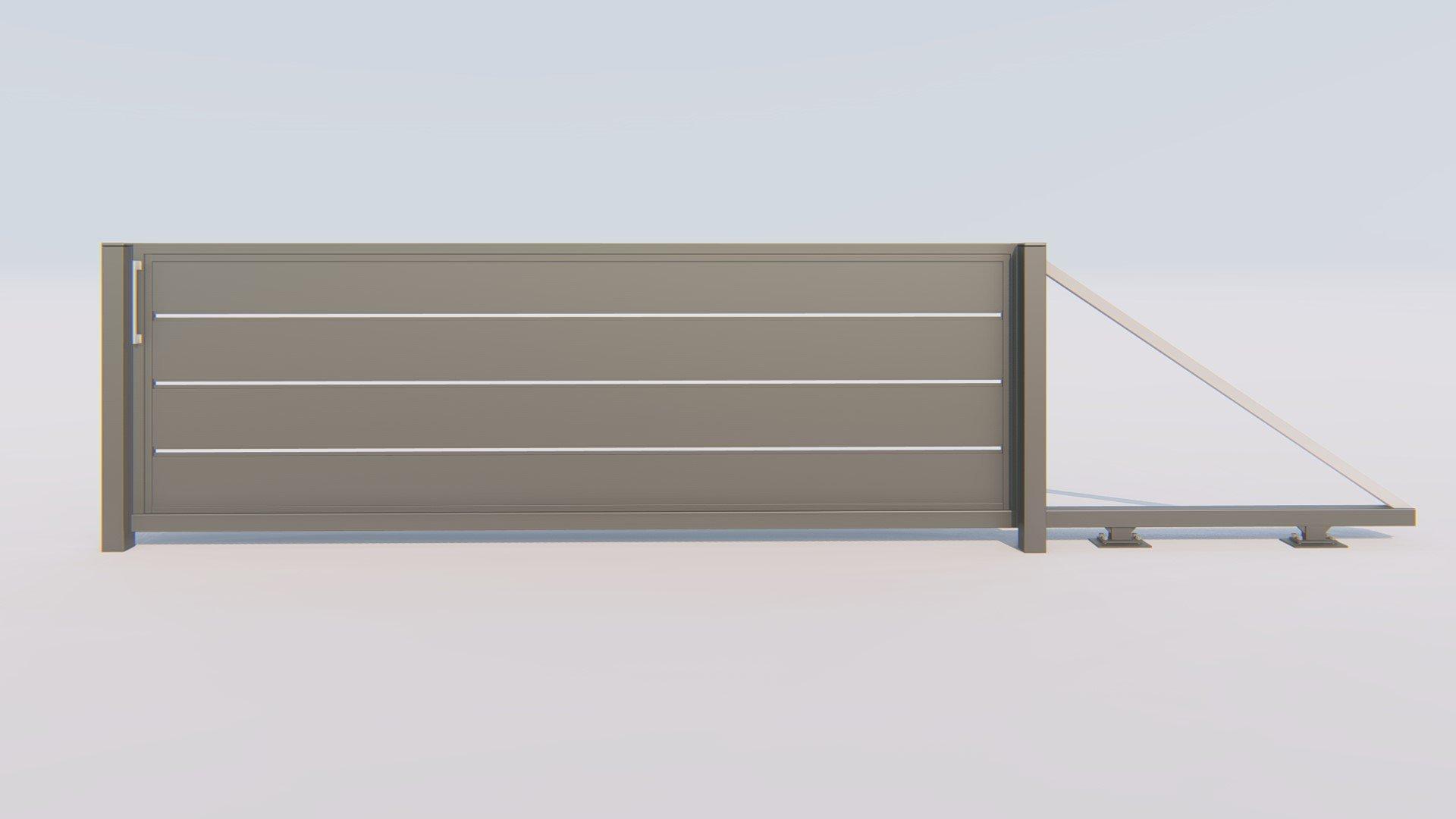 brama ogrodzeniowa nowoczesne z szerokimi lamelami modern tanio