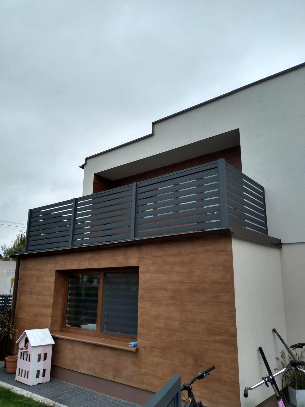 lamele ogrodzeniowe horyzontalne na balkon antracytowe