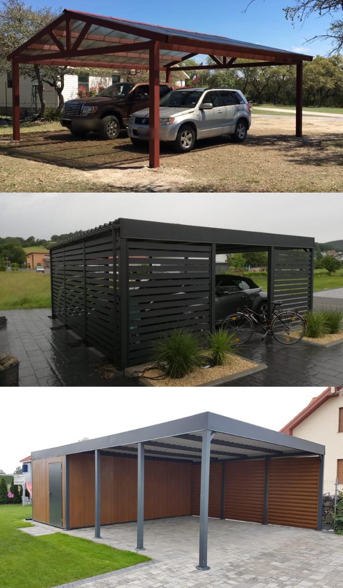 wiata garazowa - sklep - kupic czy budowac - carport polska tanio