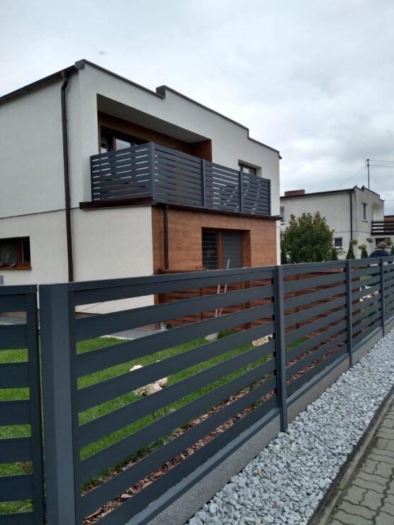 przeslo ogrodzeniowe-ogrodzenie nowoczesne-horyzontal-antracyt