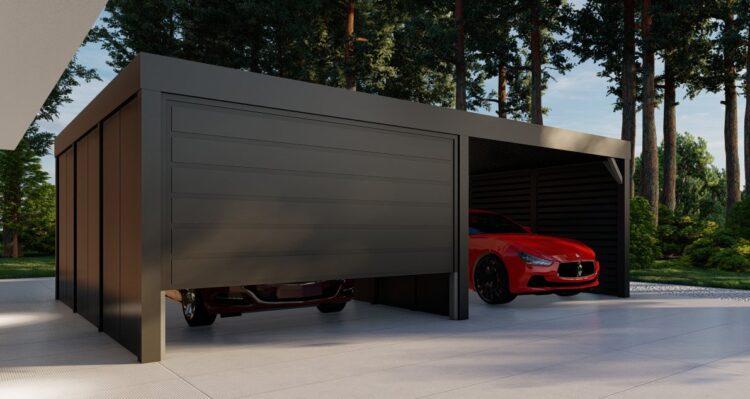 Wiata z garażem